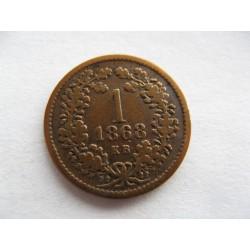 1 krejcar 1868 KB