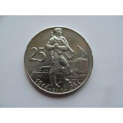25 Kčs - 1954 SNP
